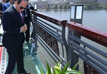 Egypt is adding the first glass walkway in the reg...