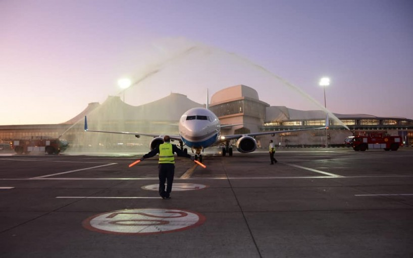 Sharm El-Sheikh Airport first British flight after a 4-year hiatus